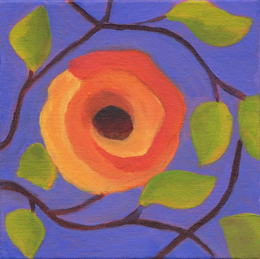"""Orange Poppy"" original fine art by Susan Bertocci"
