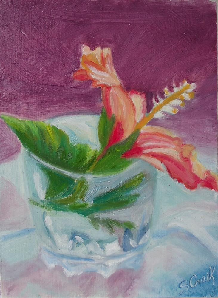 """Hibiscus #1"" original fine art by Susan Craik"