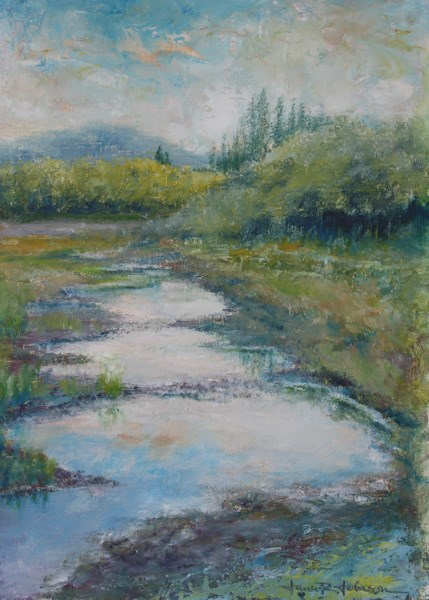 """Puddle Jumping"" original fine art by Jana Johnson"
