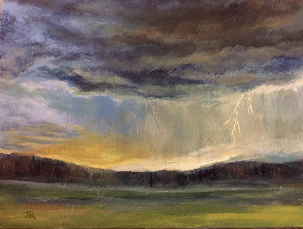 """Passing Thunderstorm"" original fine art by June Rollins"