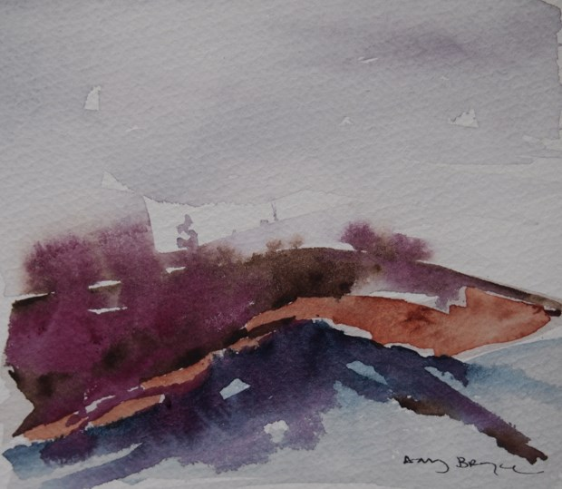 """Rolling Hills"" original fine art by Amy Bryce"