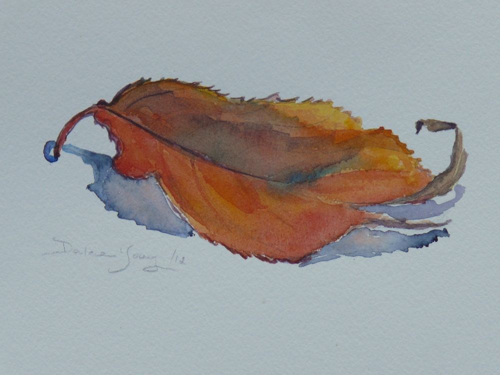 """""""557 Leaf Study"""" original fine art by Darlene Young"""