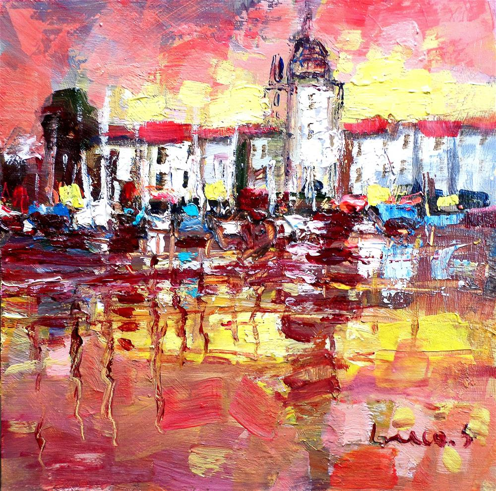 """light in cote d,azur"" original fine art by salvatore greco"