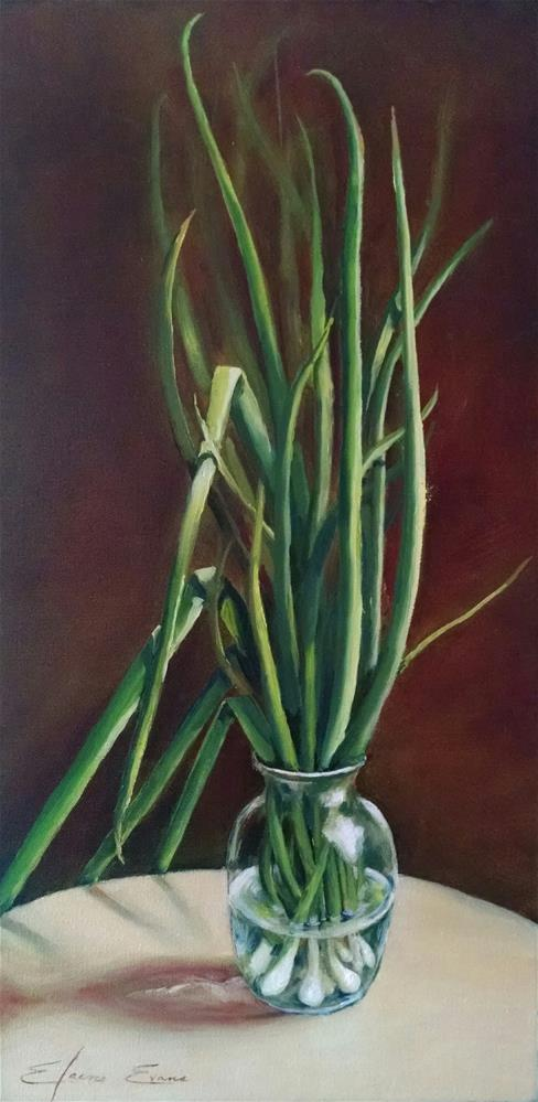 """The Scallions Series #1"" original fine art by Elaine Evans"