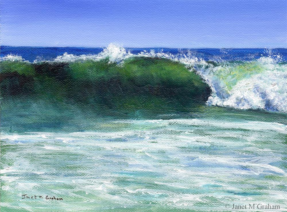 """The Wave"" original fine art by Janet Graham"