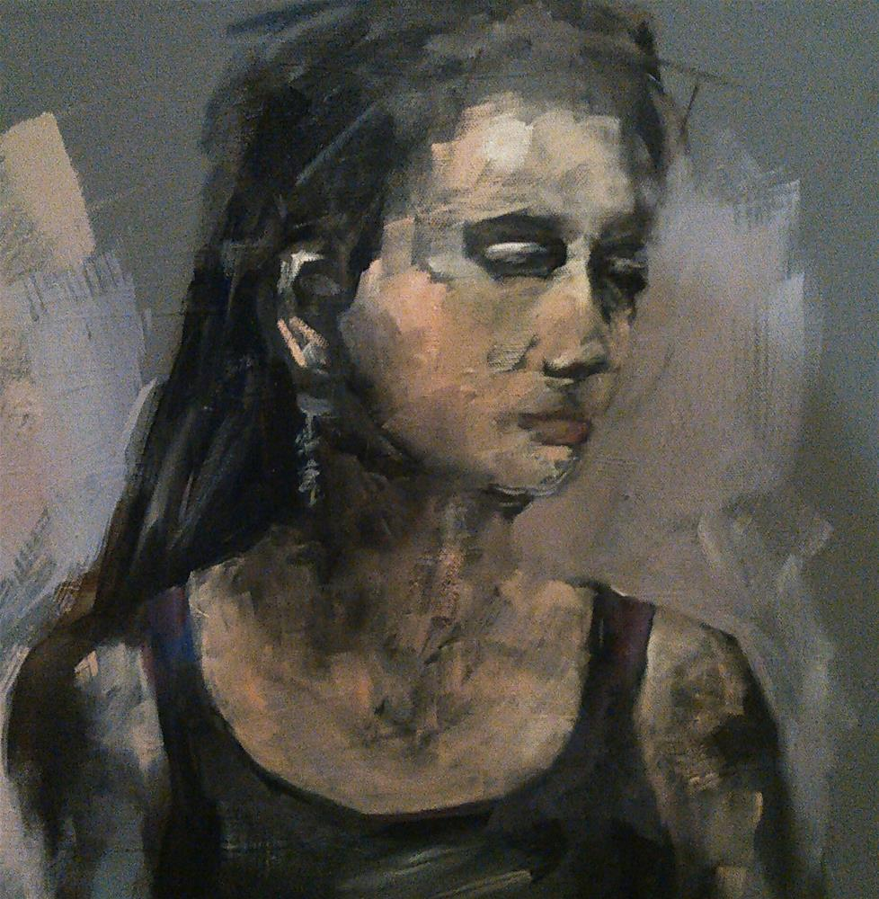 """Unfinished Portrait"" original fine art by Ann Rudd"