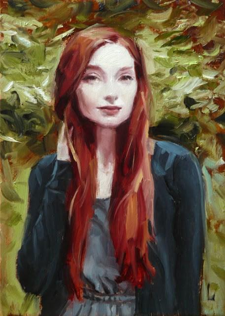 """Leafy"" original fine art by John Larriva"