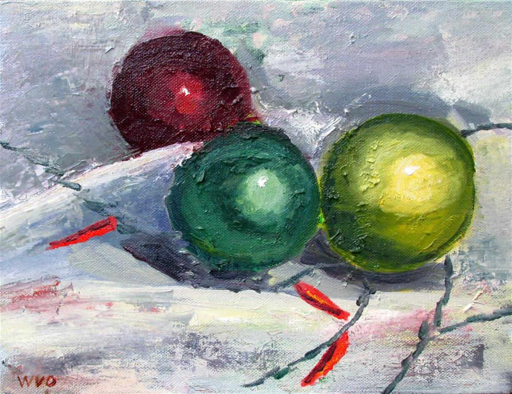 """Christmas Ornaments"" original fine art by Will Dargie"