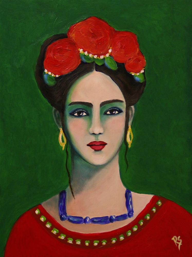 """Endurance - A Frida Kahlo Inspired Painting"" original fine art by Roberta Schmidt"