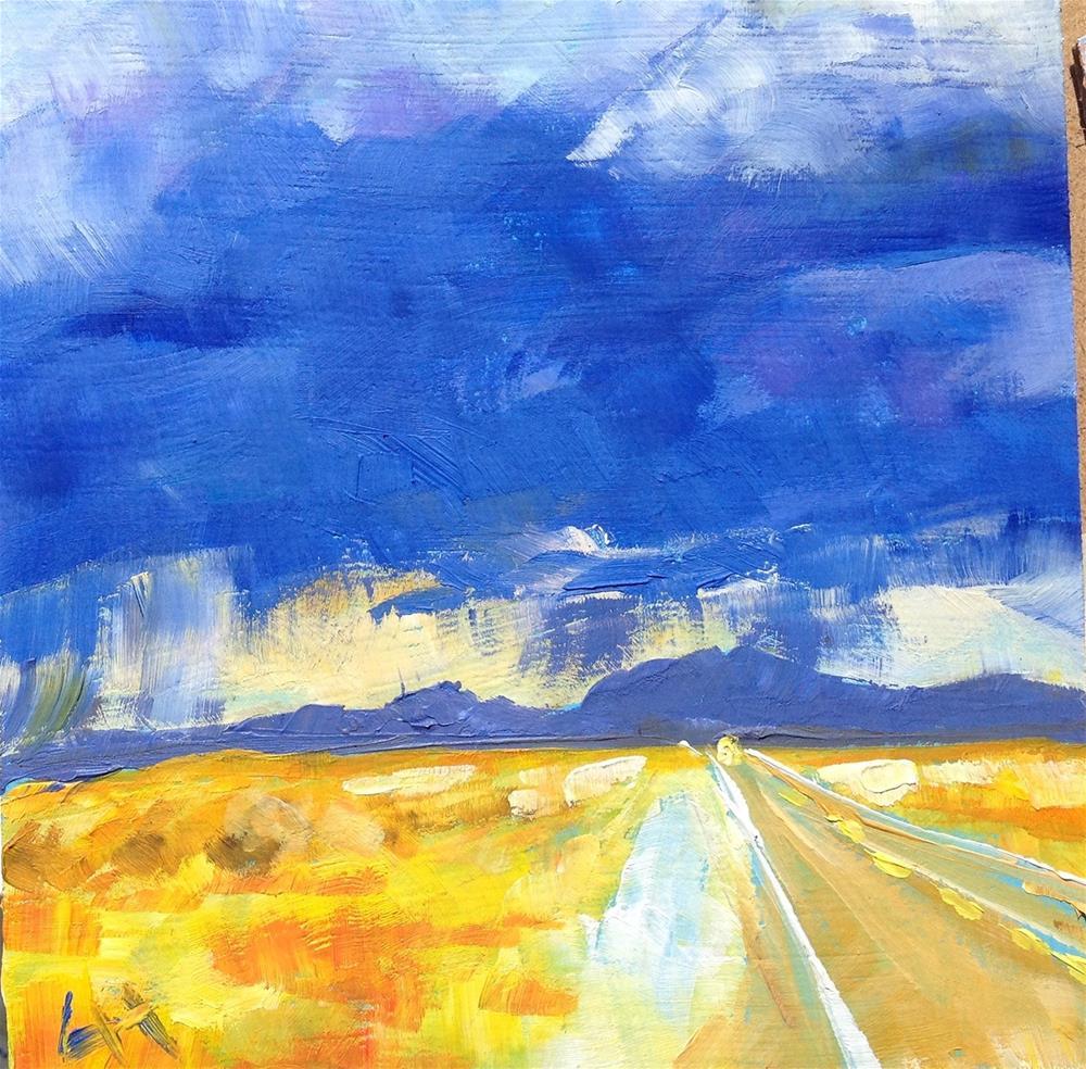 """Rain in distance"" original fine art by Hui (Hue) Li"