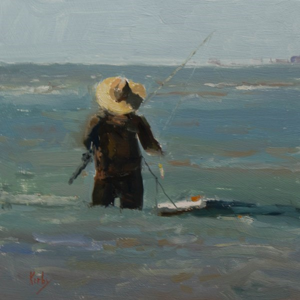 """Fishing for Specs"" original fine art by Randall Cogburn"