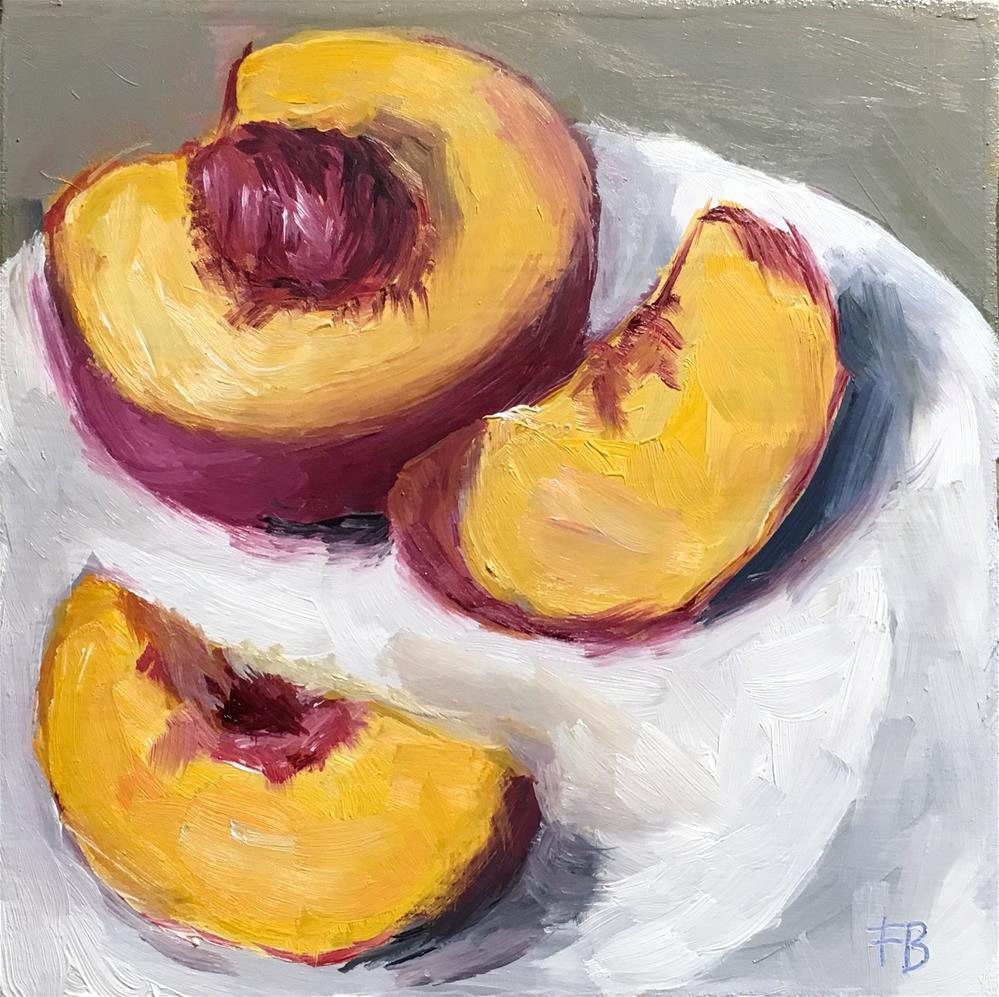 """102 Cut Peach"" original fine art by Fred Bell"