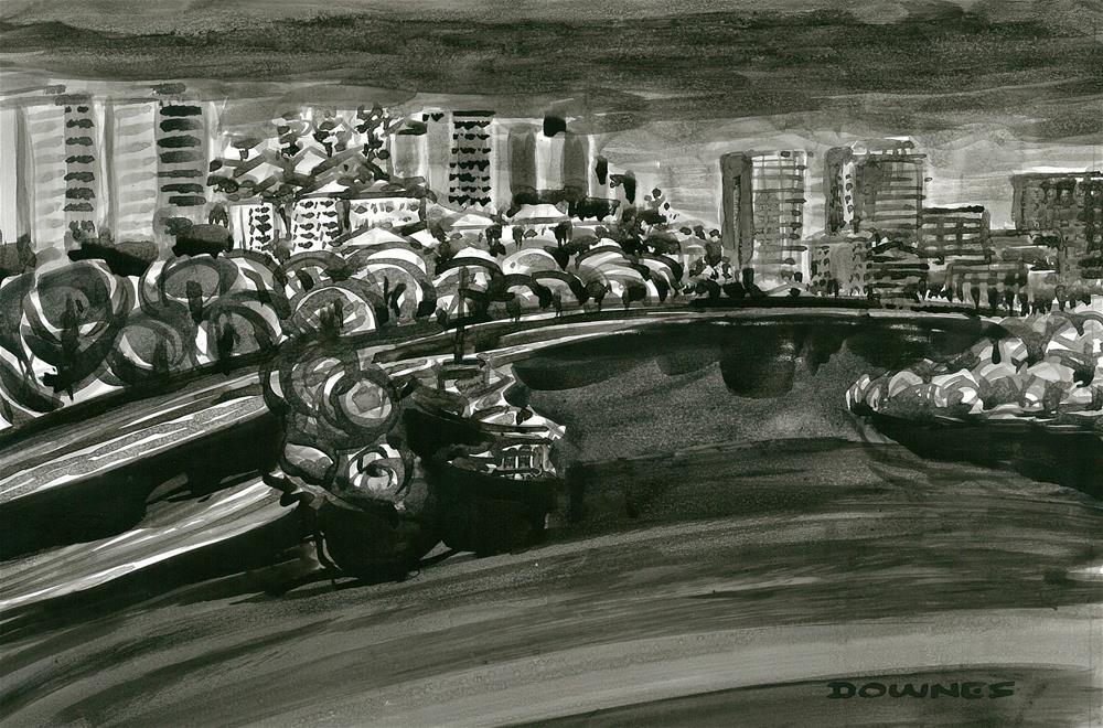 """255 EN PLEIN AIR SKETCH 14"" original fine art by Trevor Downes"