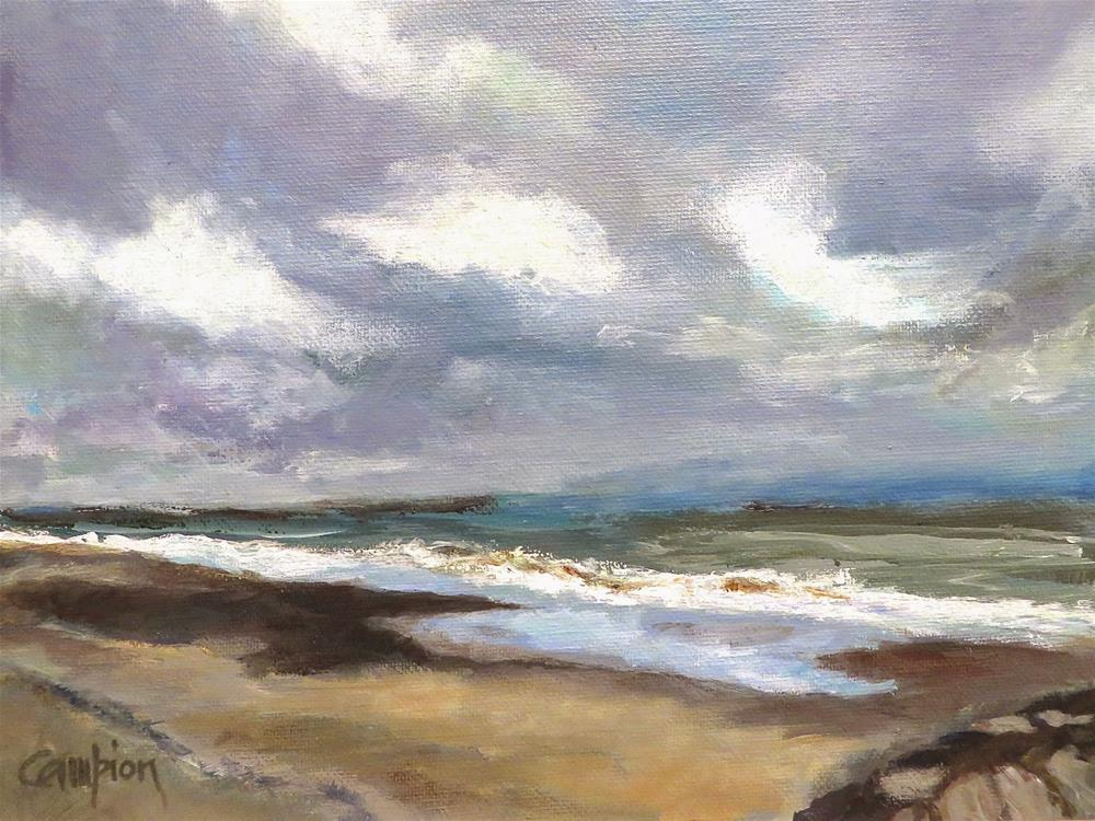 """577 Plymouth Beach, MA"" original fine art by Diane Campion"