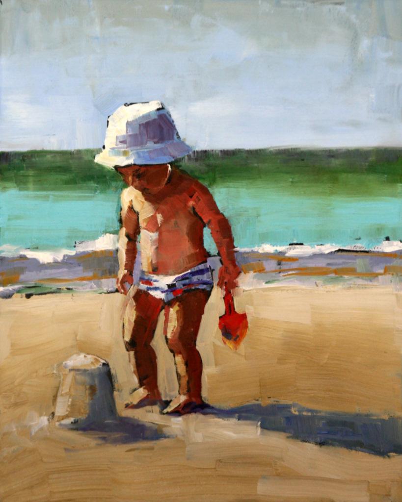 """""""ta da"""" original fine art by Carol Carmichael"""