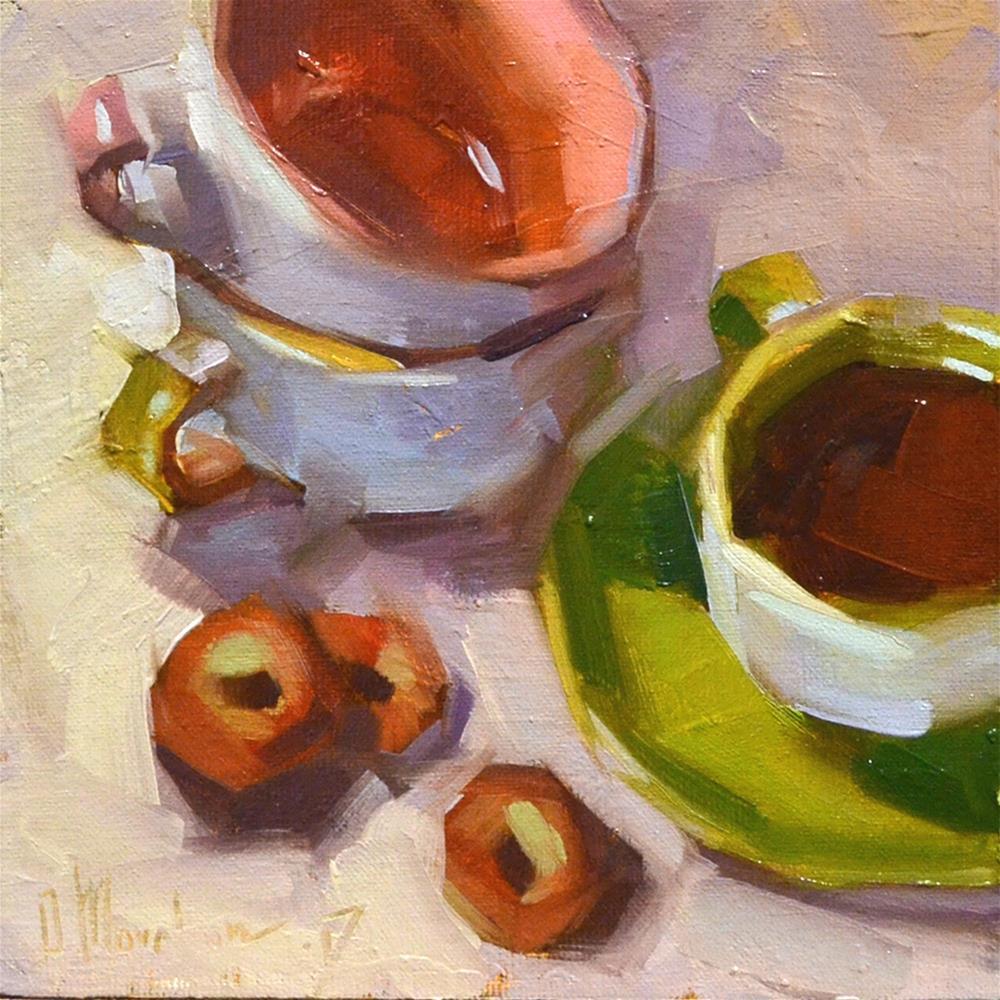 """""""Would you like some tea?"""" original fine art by Oleksii Movchun"""