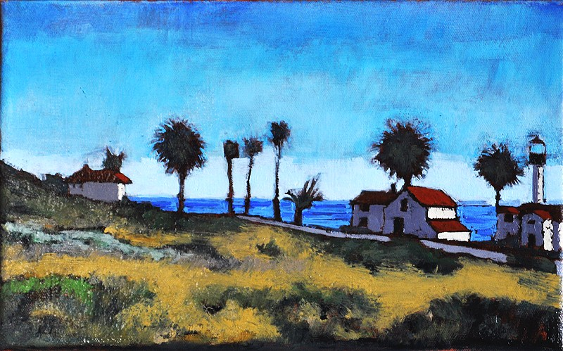 """Cabrillo Lighthouse"" original fine art by Kevin Inman"