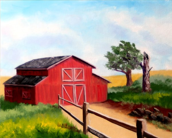 """Mark Adam Webster - Barn Landscape Oil Painting"" original fine art by Mark Webster"