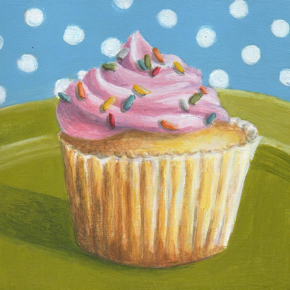 """Cupcake #2"" original fine art by Debbie Shirley"