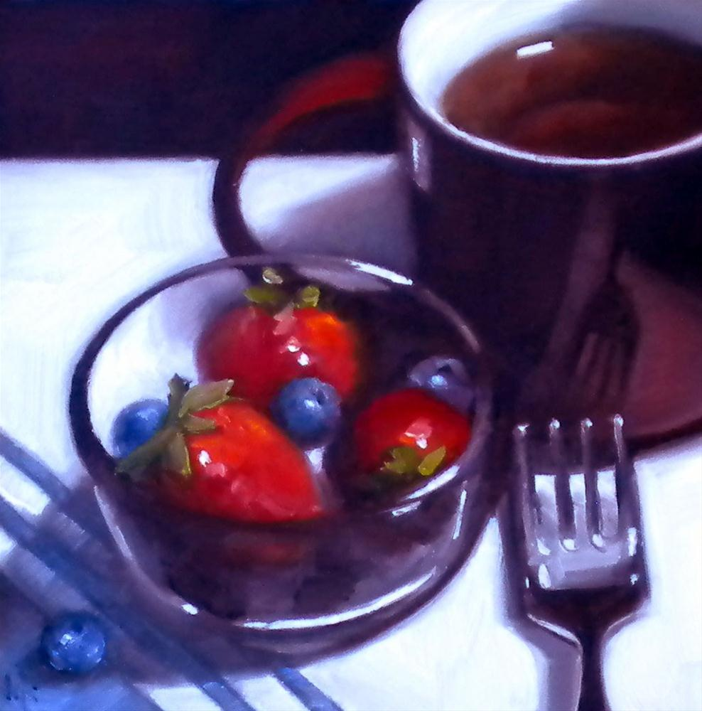 """Tea-Berry Blend"" original fine art by Darla McDowell"