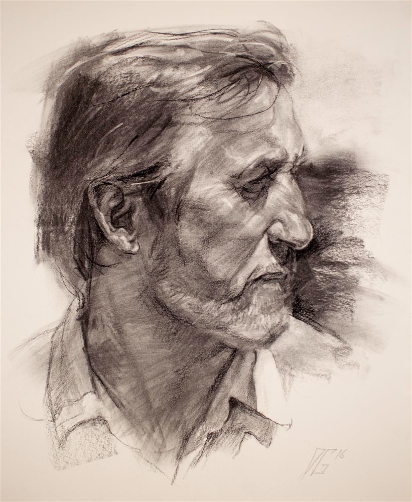 """""""Portrait In Charcoal No.1"""" original fine art by Dimitriy Gritsenko"""