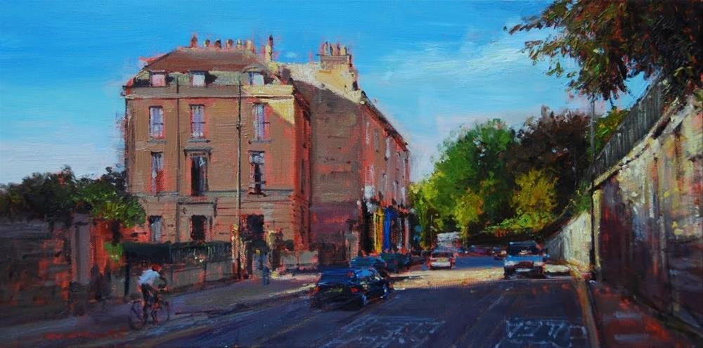 """Nelson's place, Bath"" original fine art by Adebanji Alade"