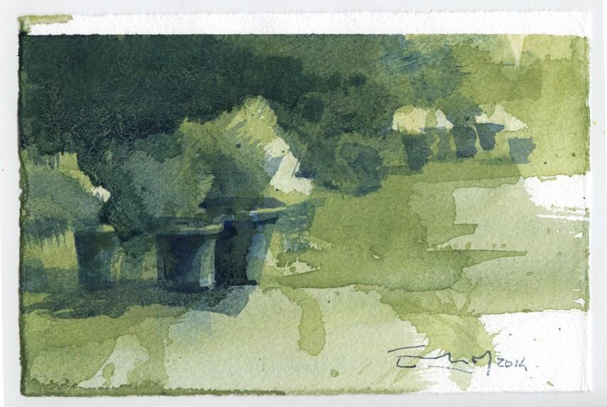 """""""garden 9"""" original fine art by Emilio López"""