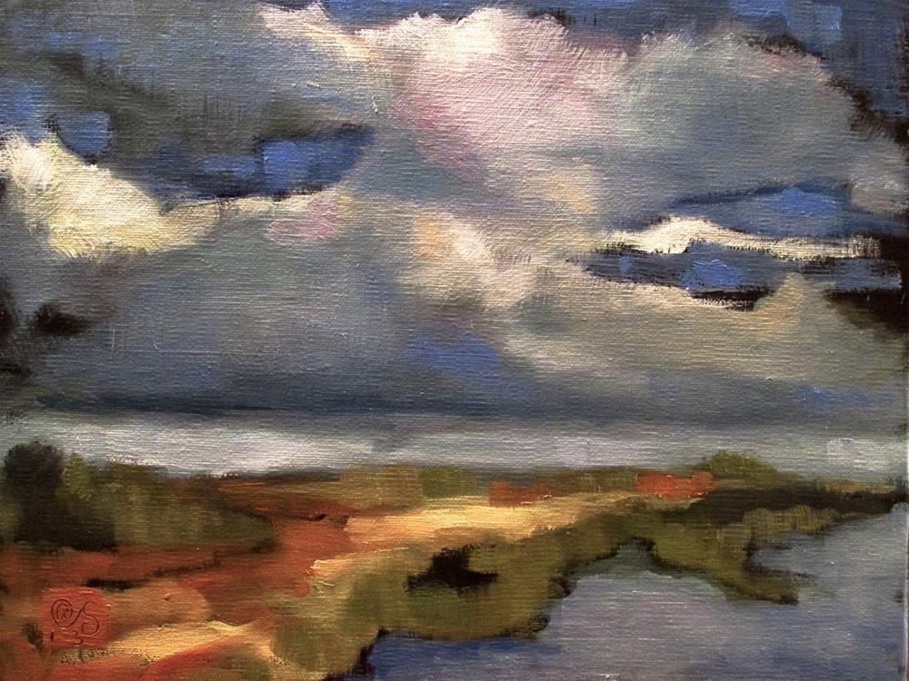 """Saugatuck Sky"" original fine art by Aurelio Saiz"
