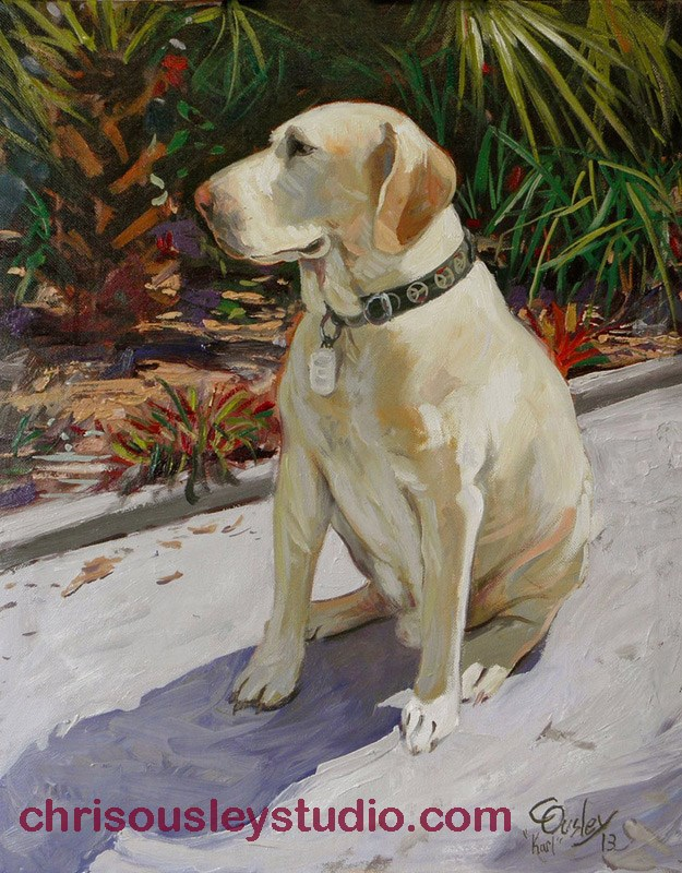 """Karl the Great (most handsomest dog on canvas)"" original fine art by Chris Ousley"