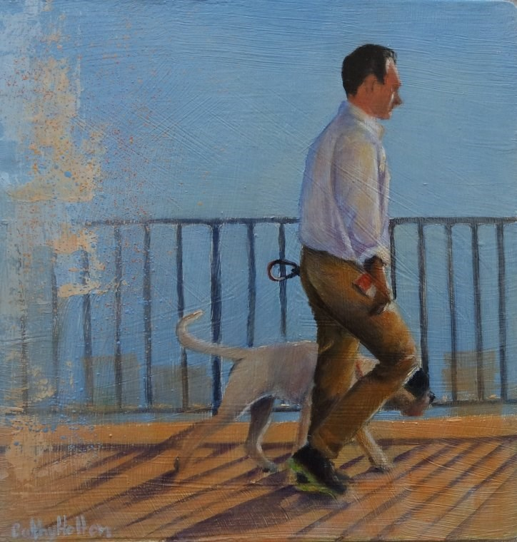 """Man and His Dog"" original fine art by Cathy Holtom"