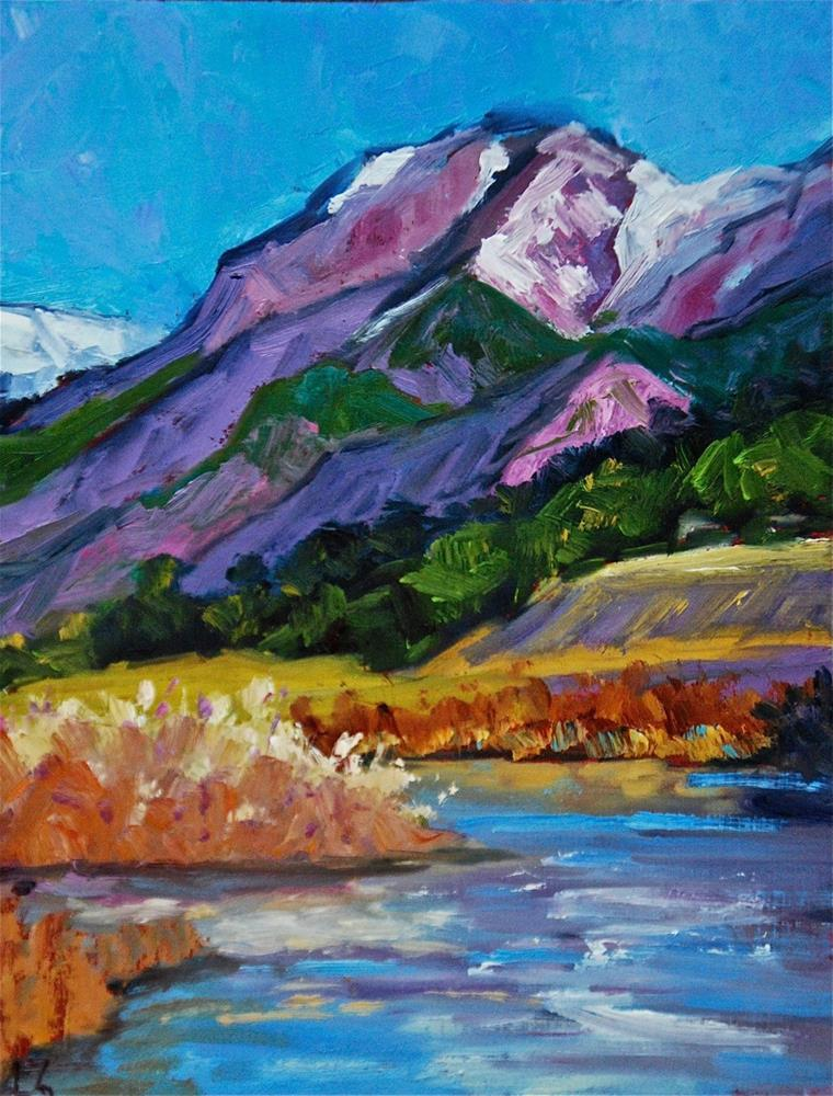 """Purple Mountain Shadows"" original fine art by Liz Zornes"