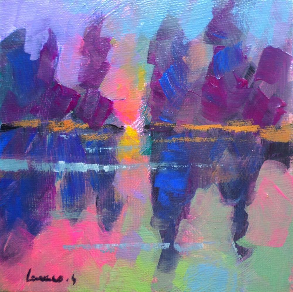 """Sunset 2"" original fine art by salvatore greco"