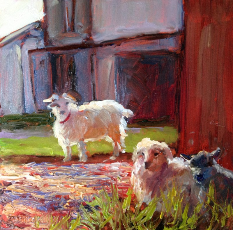 """In the Barnyard II, Day 17"" original fine art by Claudia L Brookes"