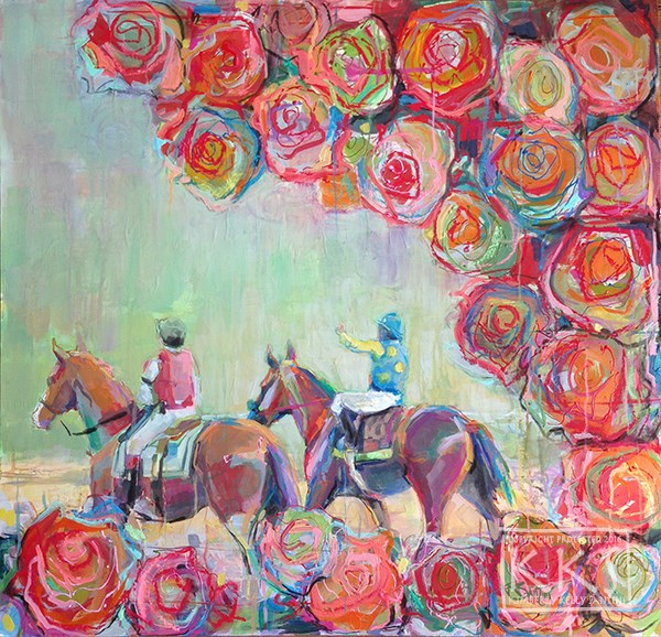 """The Winner's Circle"" original fine art by Kimberly Santini"