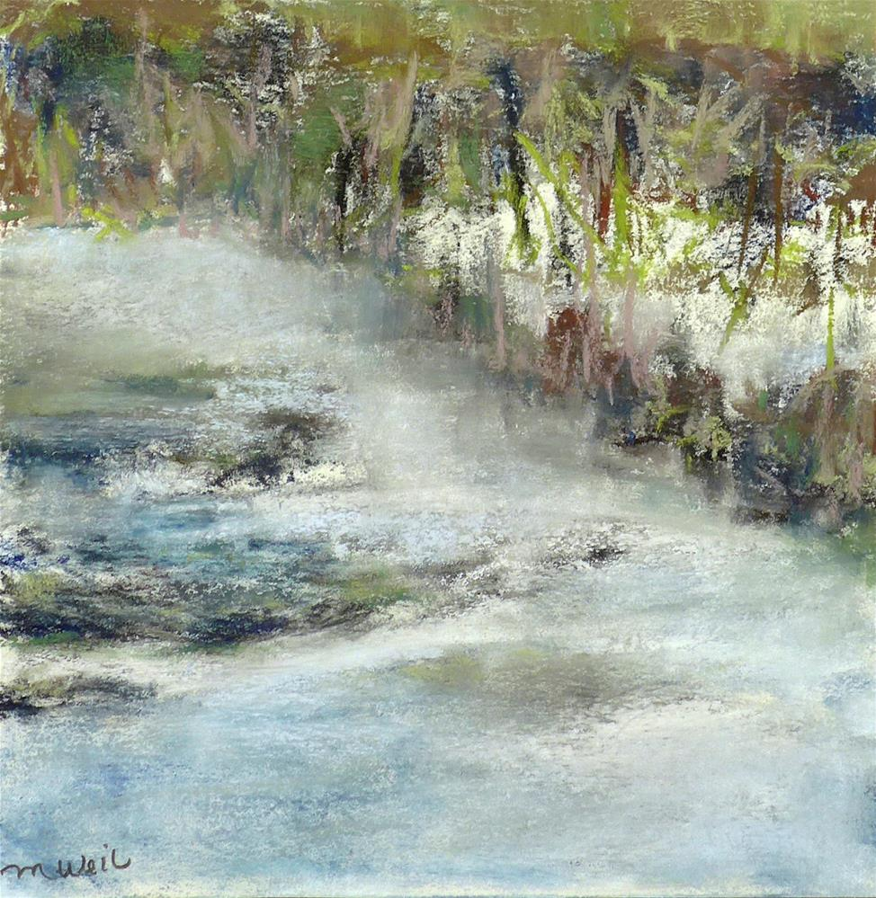 """Misty Waters"" original fine art by Mary Weil"