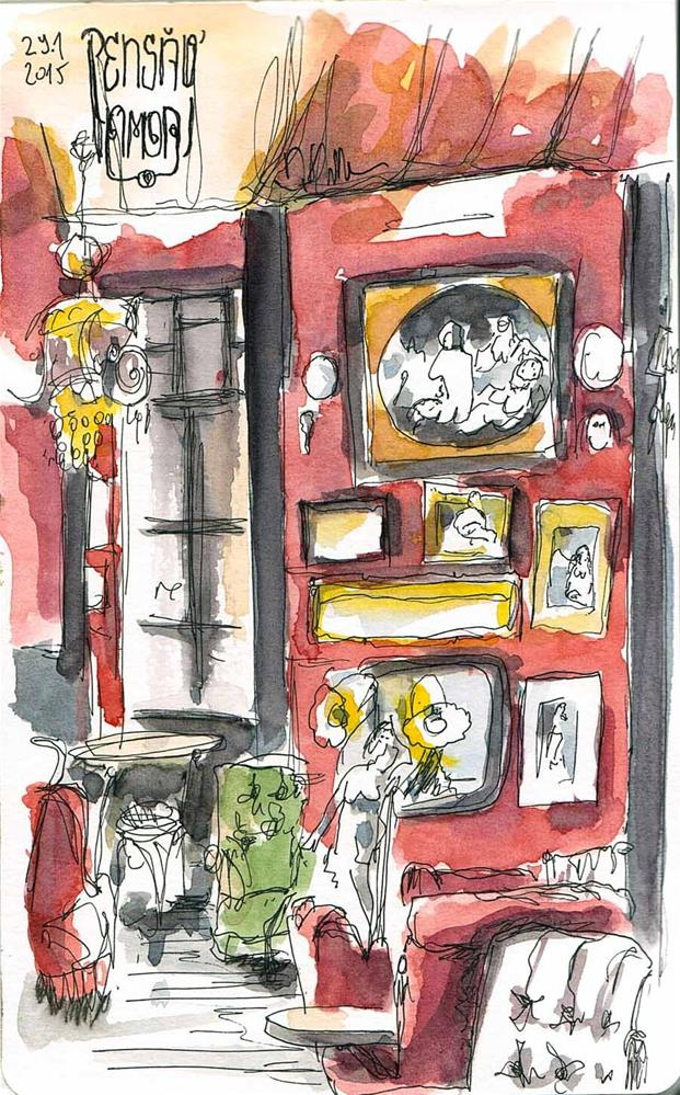 """1263 Love House"" original fine art by Dietmar Stiller"