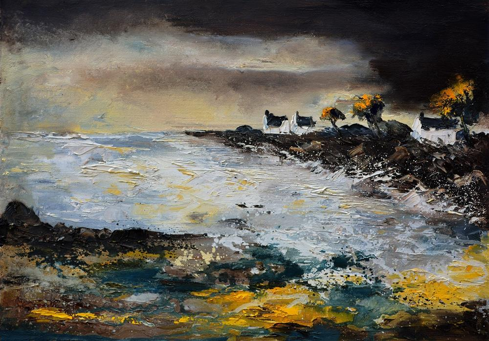"""seascape 75"" original fine art by Pol Ledent"