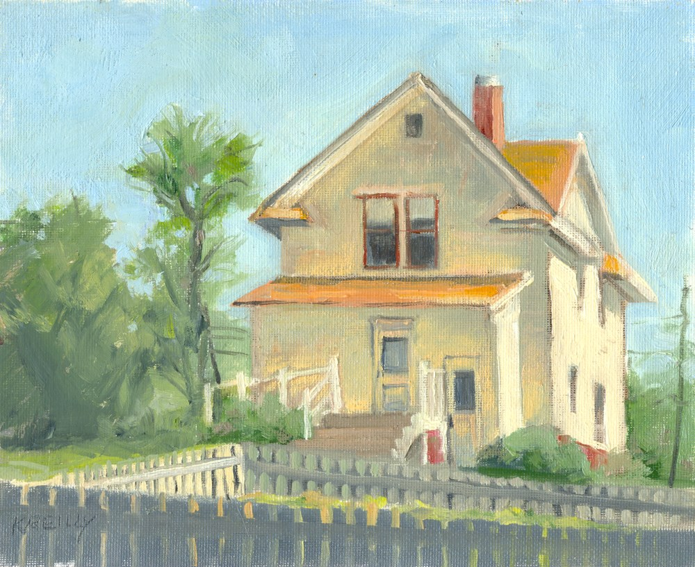 """Farmhouse"" original fine art by Kath Reilly"