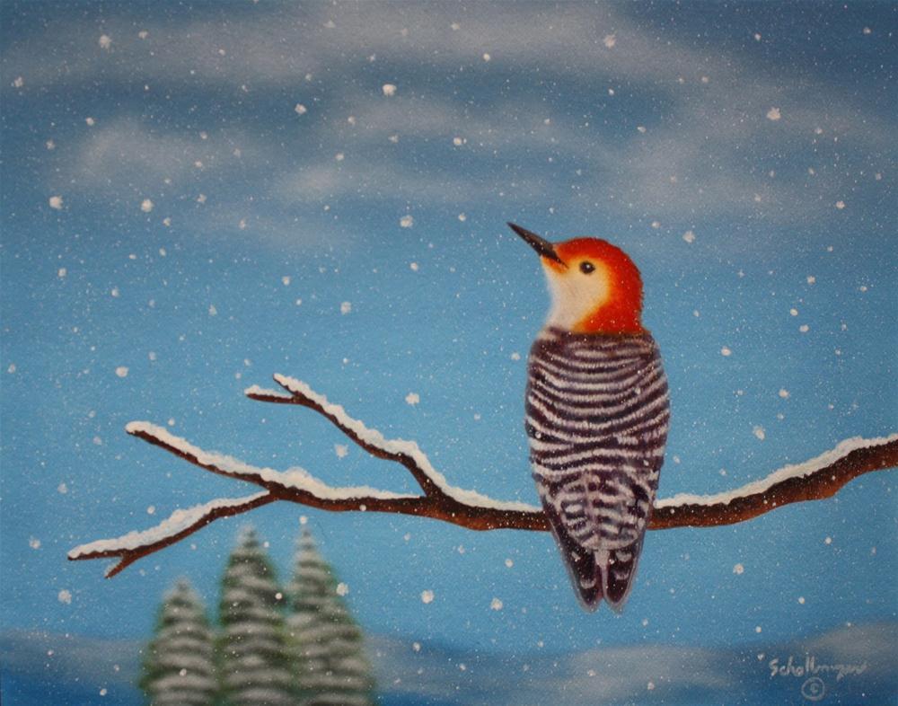 """""""Winter's Wait"""" original fine art by Fred Schollmeyer"""