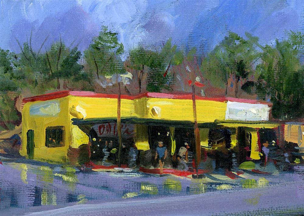 """Hugo's Tire Shop"" original fine art by Chris Ousley"