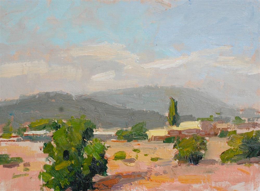 """Morning Near Santa Fe"" original fine art by michael clark"