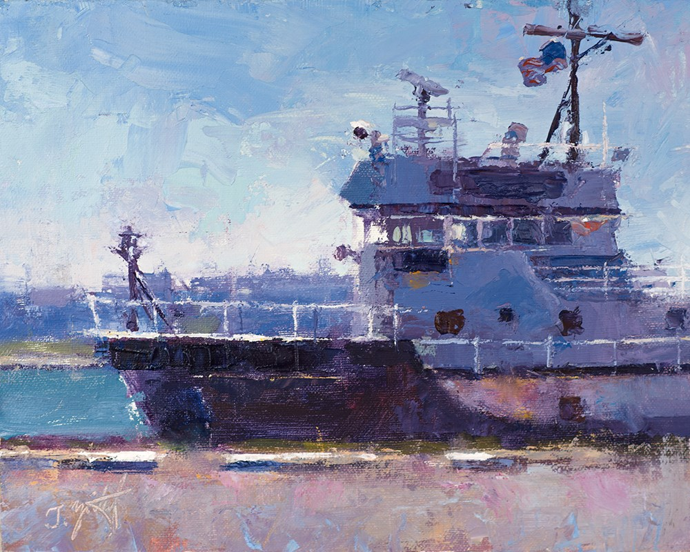 """Shipyard Blue"" original fine art by Todd Zuithof"