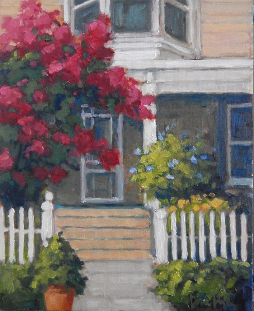 """Under the Crepe Myrtle"" original fine art by Lisa Kyle"