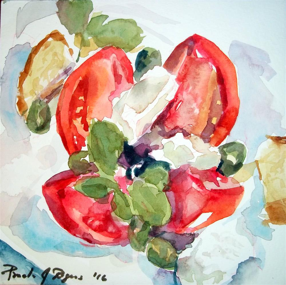 """Tomato Rose ala Katerina"" original fine art by Pamela Jane Rogers"
