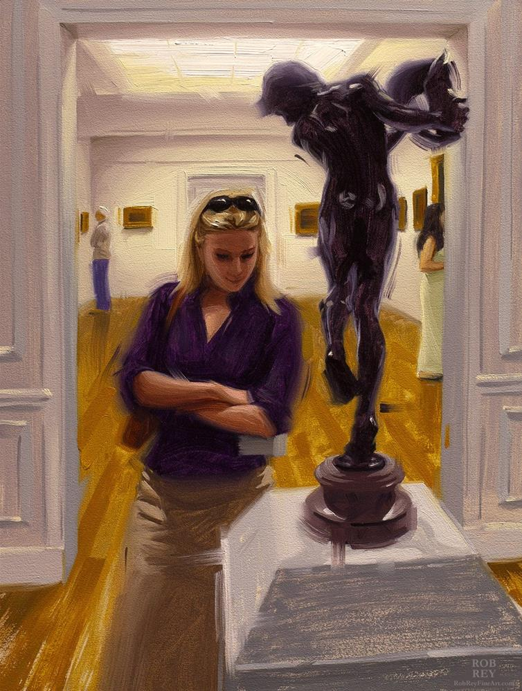 """Browsing The Clark Museum"" original fine art by Rob  Rey"