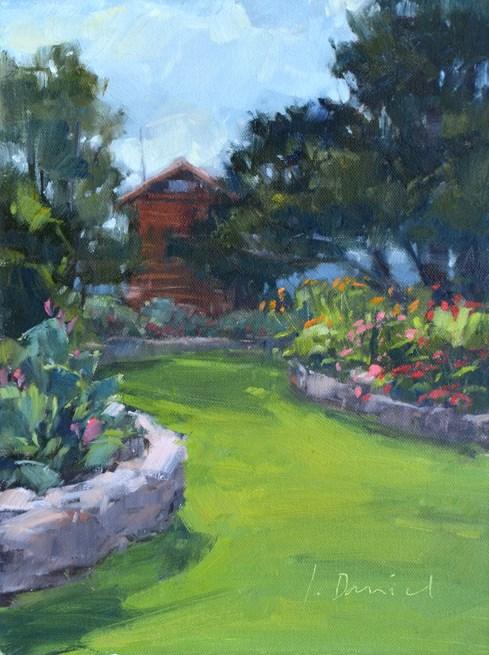 """""""Garden Path - Kerrville Outdoor Painting Event"""" original fine art by Laurel Daniel"""