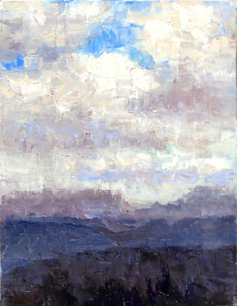 """Cloudy Sky"" original fine art by Julie Ford Oliver"