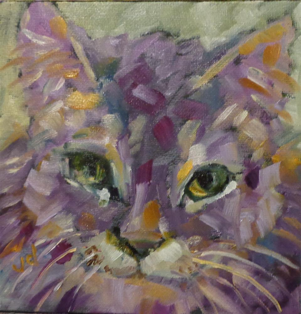 """""""The power of purple"""" original fine art by Jean Delaney"""