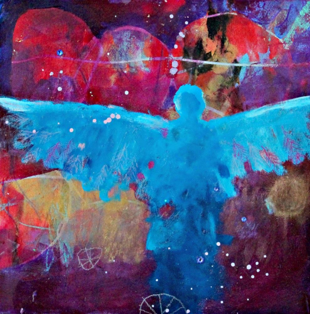 """Angels in the Cosmos "" original fine art by Kerri Blackman"