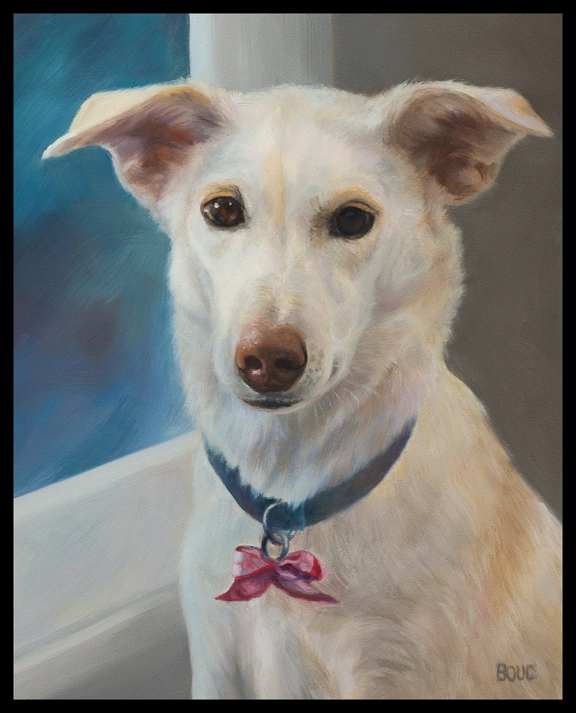 """Millie, A Dog Portrait"" original fine art by Jana Bouc"